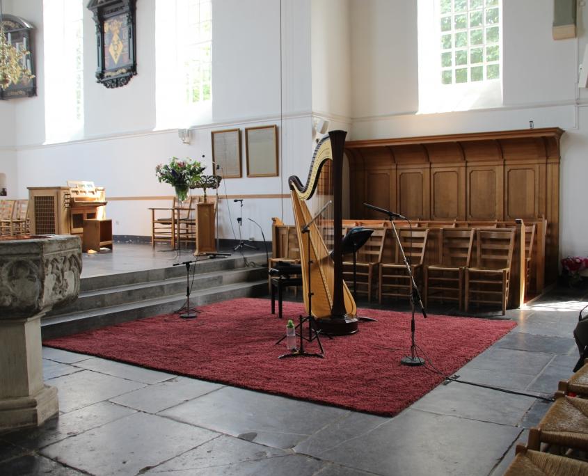 Muziekinstrumenten voor concert Oude Kerk Soest, 2018
