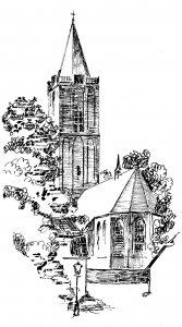 Tekening Oude Kerk Soest, Gijs van Mourik