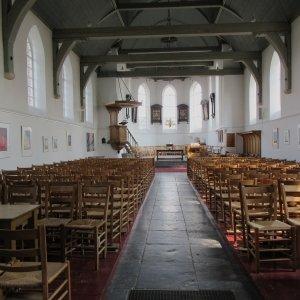 Interieur Oude Kerk Soest richting koor, 2019