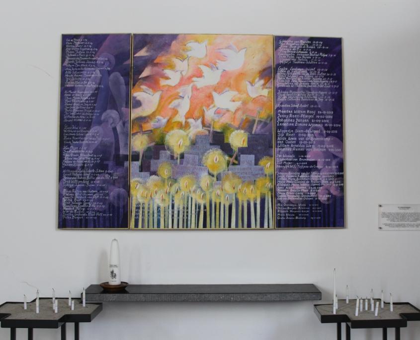 Herinneringsbord door Ruud Bartlema in Oude Kerk Soest